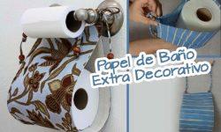 IDEAS PARA DECORAR TU BAÑO CON PORTA ROLLOS DE PAPEL