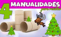 4 MANUALIDADES NAVIDEÑAS CON MATERIAL RECICLADO
