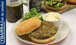 Hamburguesa de quinoa y espinacas