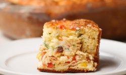 Pastel de pollo y queso
