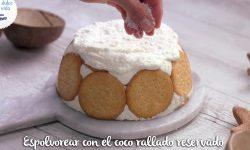 Tarta de galletas y coco